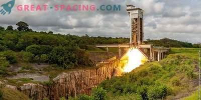 Test engine start for Vega-C rocket