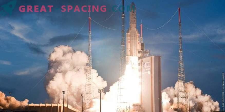 Ariane-5 sākas ar Eiropas satelītiem