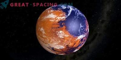 Der junge und nasse Mars trippelte neben der Venus?