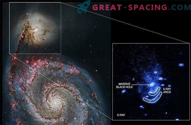 Melnais caurums tuvējā galaktikas vajā.