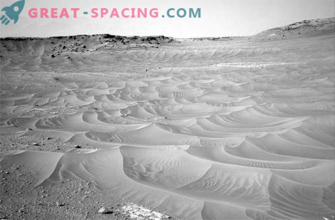 Curiosity discovered a rippling sand